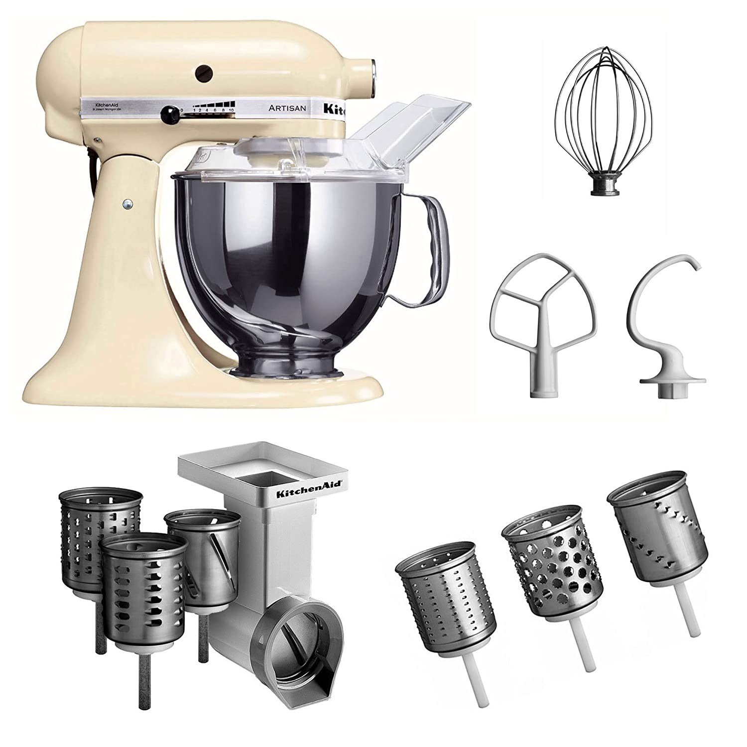 Amazon.de: Kitchenaid KSM150PSEAC + MVSA + EMVSC Kitchenaid ...