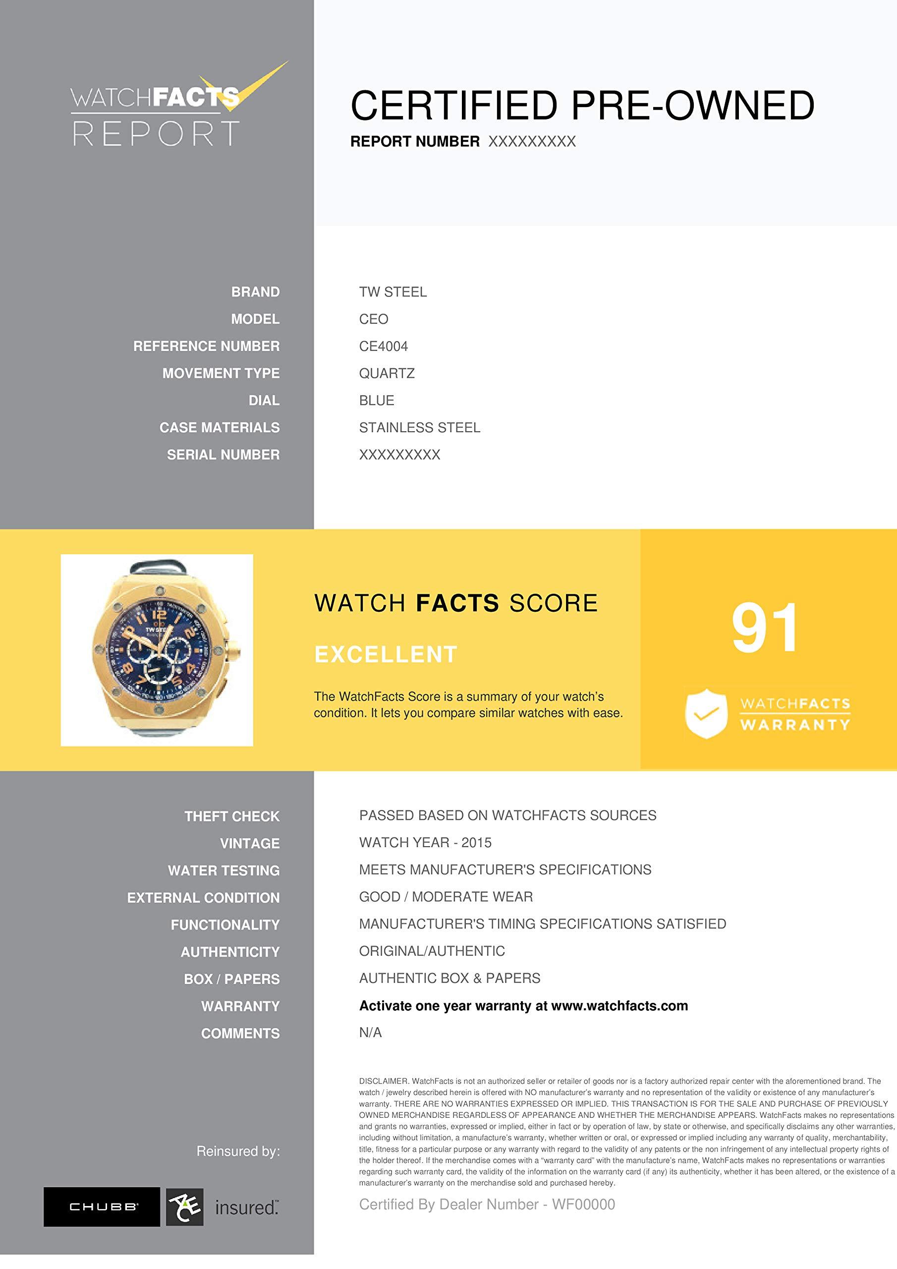 TW Steel CEO Quartz Male Watch CE4004 (Certified Pre-Owned) by TW Steel (Image #2)