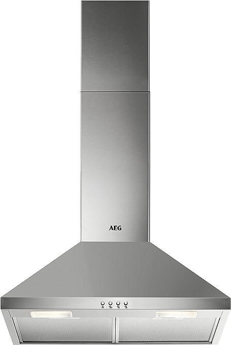 AEG DKB2630M De pared Acero inoxidable 420m³/h D - Campana (420 m³/h, Canalizado, E, E, C, 66 dB): Amazon.es: Hogar