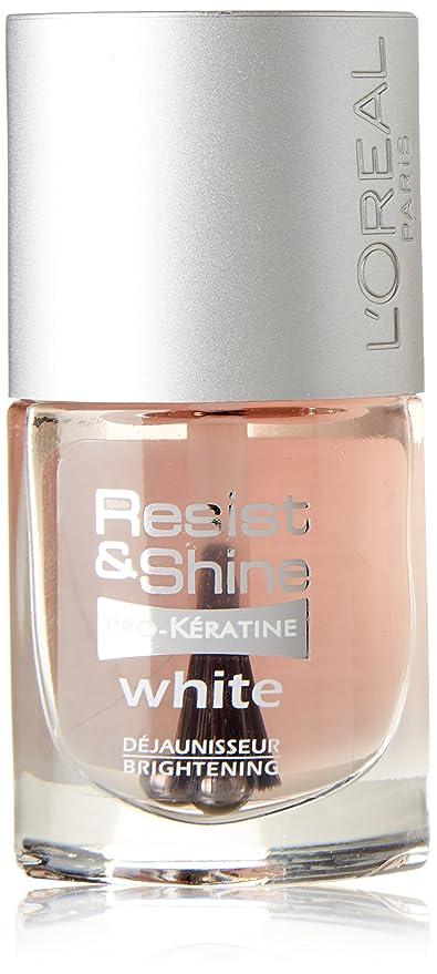 L\'Oréal LAQUE BLANC BRILLANT RESIST Vernis à Ongles: Amazon.fr ...