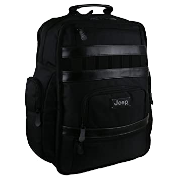 a65f22a8e18 Large Mens Black Backpack Rucksack by Jeep School Laptop Bag Travel Yellow