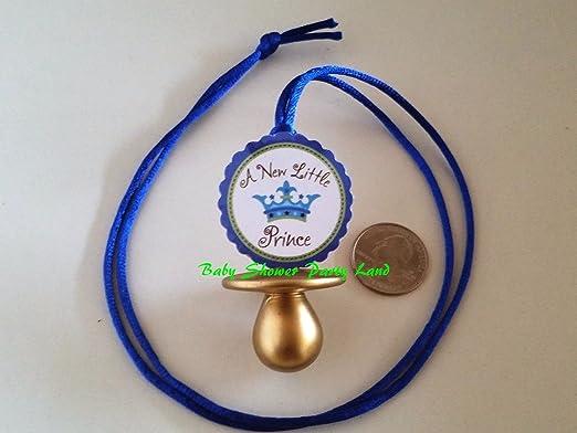 Amazon.com: 12 Prince Chupete collar su un niño bebé ducha ...