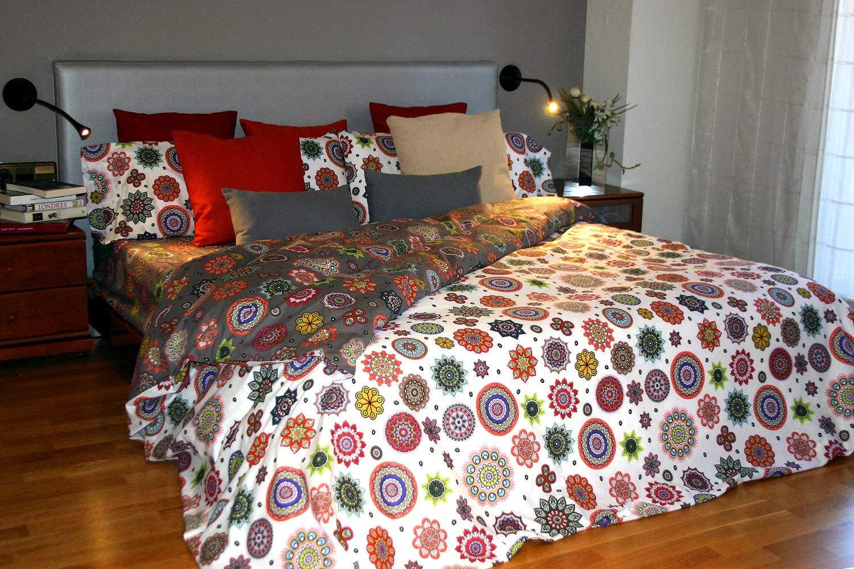 N/órdico de 150 Montse Interiors Caraibi Copripiumino Stampato para cama de 90x190//200