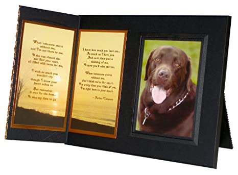 "Pet Lover Remembrance Gift,""When Tomorrow Starts Without Me"", Memorial Pet Loss Picture Frame and Sympathy Gift Package, with optional custom photo editing"