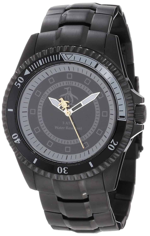 Original Penguin Herren-Armbanduhr Analog Quarz Edelstahl OP3022BK