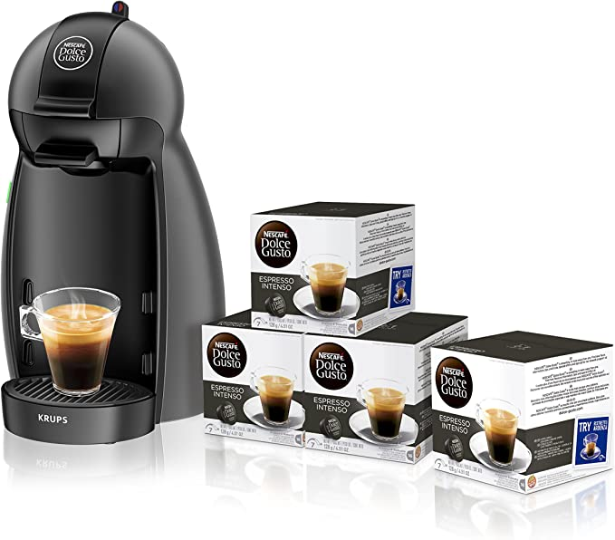 Pack Cafetera Krups Dolce Gusto Piccolo (negro) + 4 packs café ...