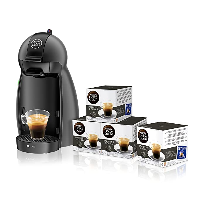 Pack Cafetera Krups Dolce Gusto Piccolo (negro) + 4 packs ...