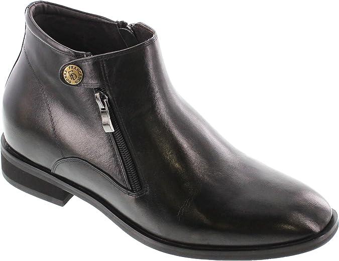 Dual Zipper Boots - 2.8 Inches Taller