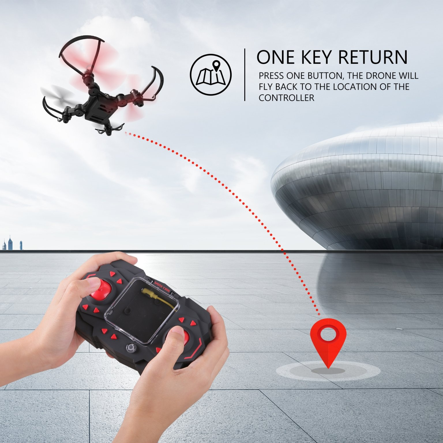 Holy Stone HS190 Foldable Mini Nano RC Drone for Kids Gift Portable Pocket Quadcopter with Altitude Hold 3D Flips and Headless Mode Easy to Fly for Beginners by Holy Stone (Image #6)