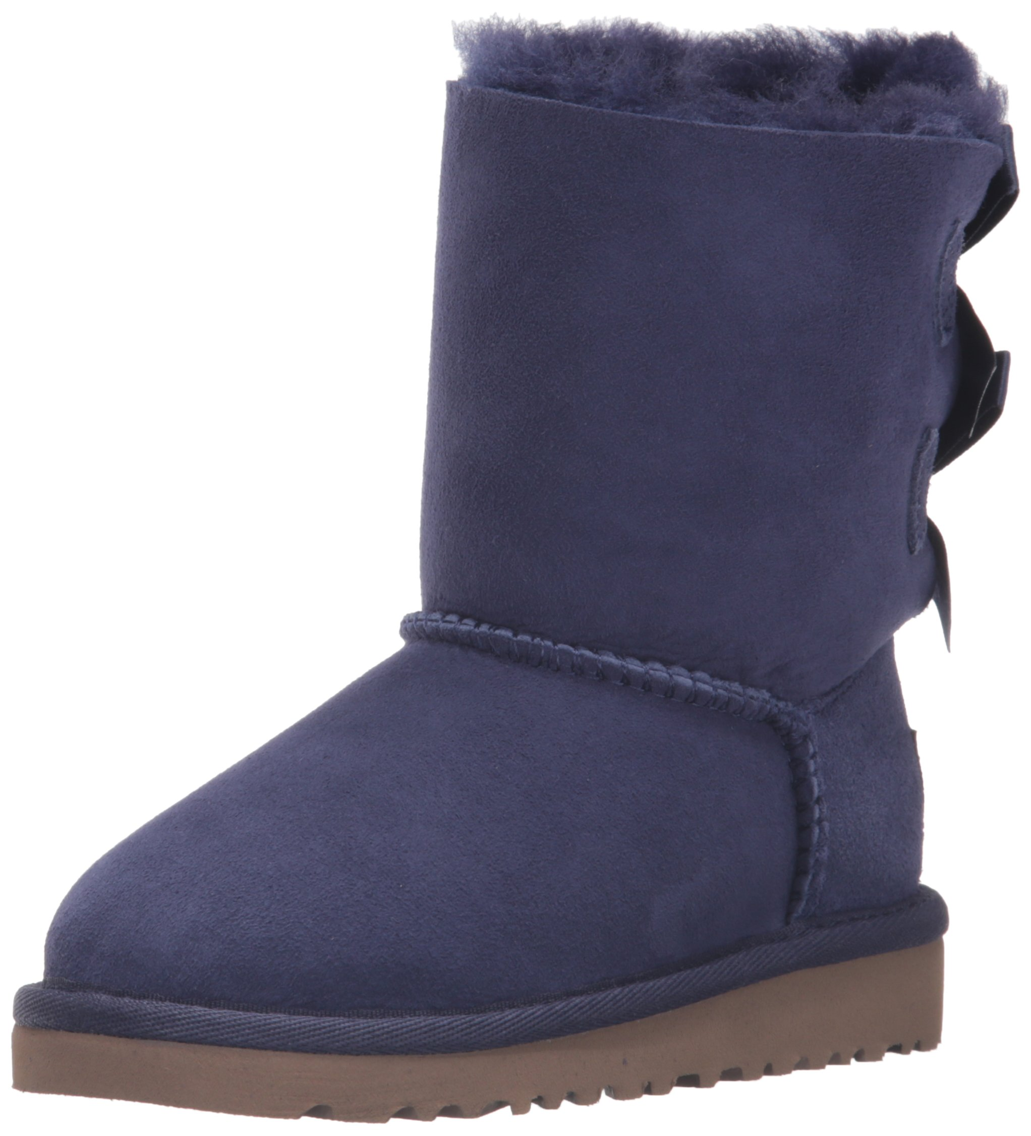 UGG Girls' Bailey Bow-K, Solid Peacoat, 7 M US Toddler