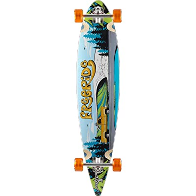 FreeRide Timberline Complete Skateboard, Yellow, Pintail : Sports & Outdoors