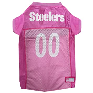 Amazon.com   NFL PIT-4019-MD Pittsburgh Steelers Pet Pink Jersey ... 0ace9ccf3