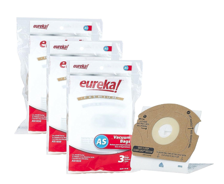 Genuine Eureka AS Premium Filtration Vacuum Bag 68155 - 9 Pack