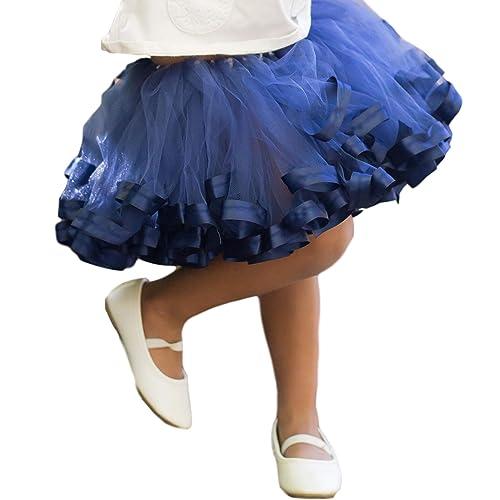 d592b0c800 Amazon.com: Navy Blue Tutu for Girls, Navy Tulle Skirt KIds, Newborn - Size  12: Handmade