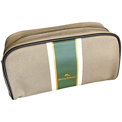 cb1c0d6b66 Tommy Bahama Canvas Khaki Travel Cosmetic Toiletry Bag Case delicate ...
