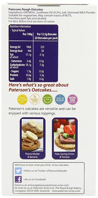 Patersons Oatcakes - Paquete de 8 x 250 gr - Total: 2000 gr: Amazon.es: Alimentación y bebidas