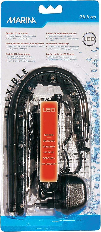 Marina LED Curtain Betta Aquarium Air Pump, 14-Inch, Red