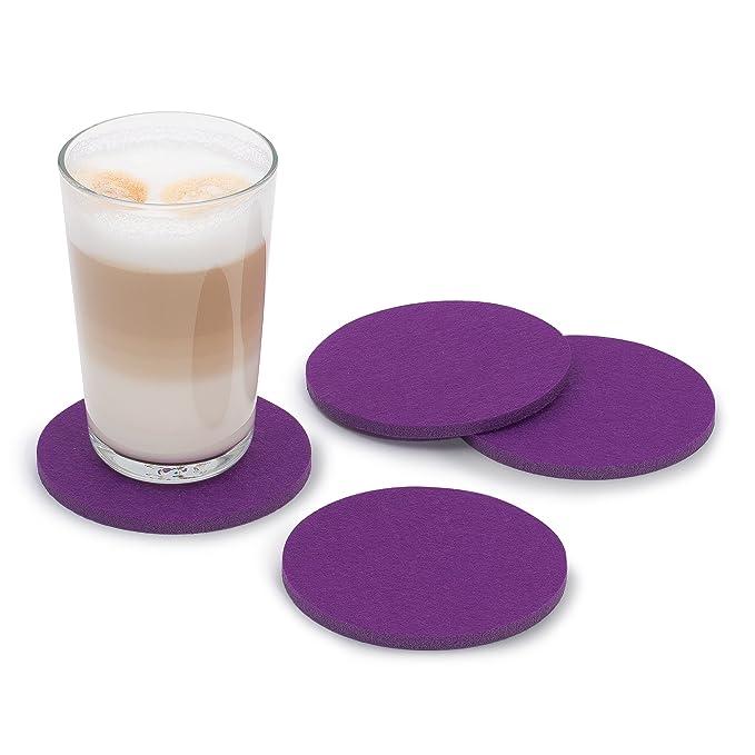 FILU Filzuntersetzer rund 8er Pack einfarbig (Farbe wählbar) violett ...