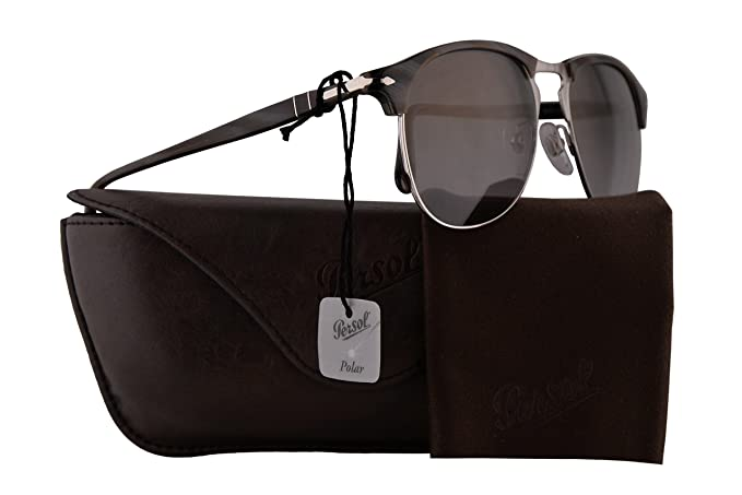 20b58adeff Image Unavailable. Image not available for. Colour  Persol PO8649S  Sunglasses Dark Horn w Polarized Gradient Green ...