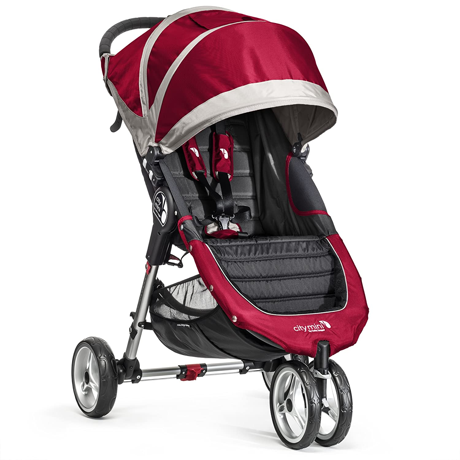 Baby Jogger City Mini Silla de paseo color rojo  gris