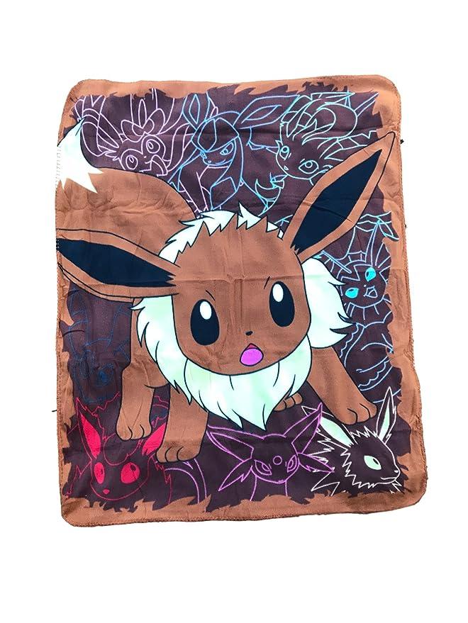 """Pokemon """"Eager Eevee"""" Fleece Throw Blanket 40"""" x 50"""""""