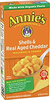 product image for Annie's Shells & Aged Cheddar Macaroni and Cheese, Mac and Cheese, 6 oz (Pack of 12)