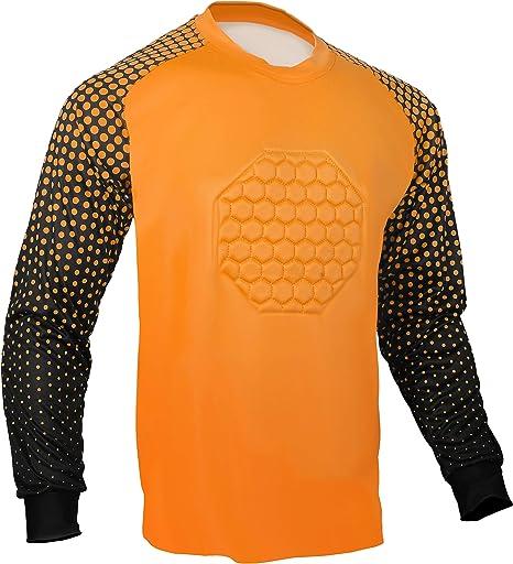 Total Soccer Factory Fútbol Portero Camisa, Anaranjado: Amazon.es: Deportes y aire libre
