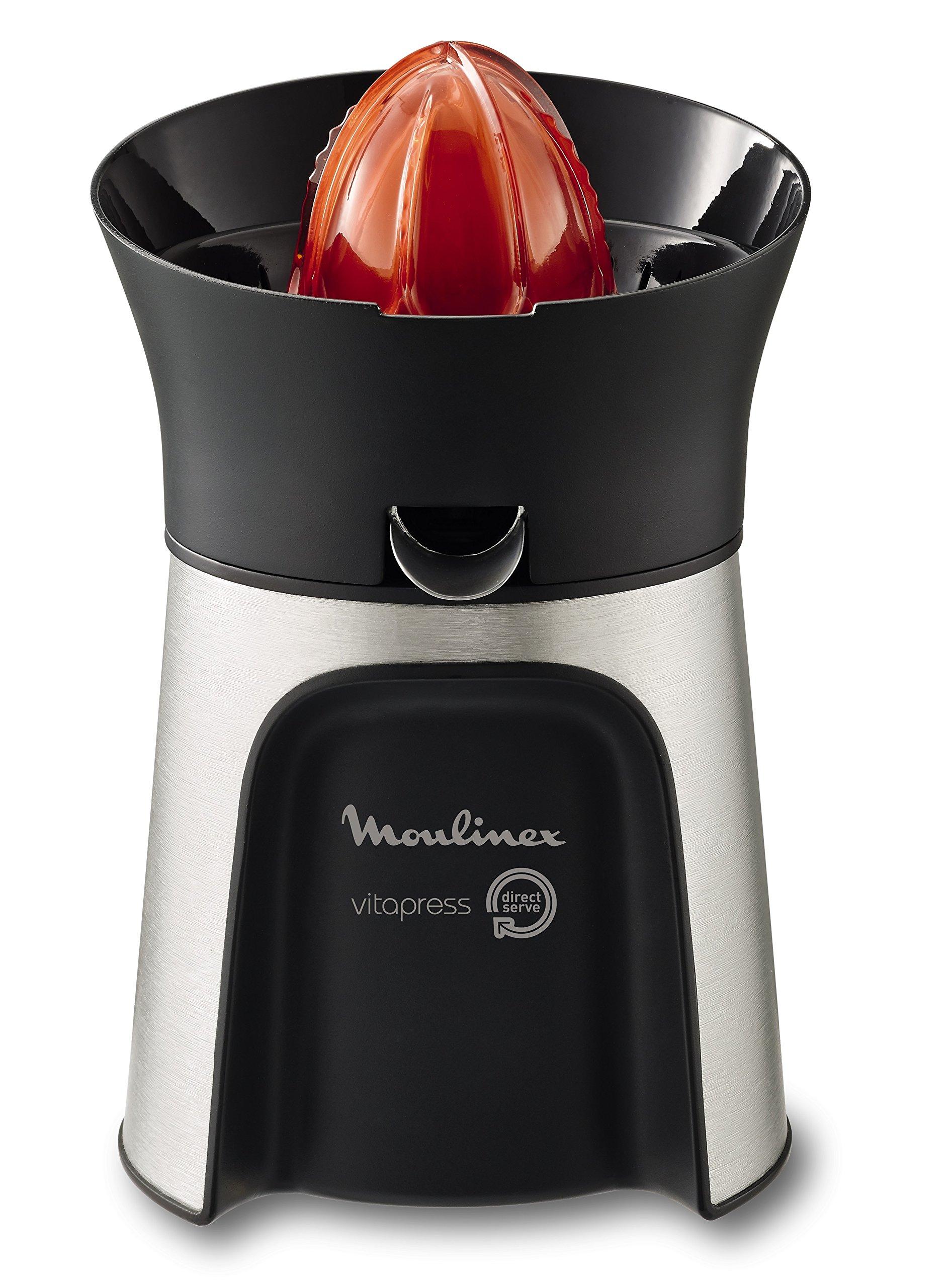 Moulinex Vitapress PC603D Exprimidor 100W de potencia con vertido directamente en el vaso, 3 conos