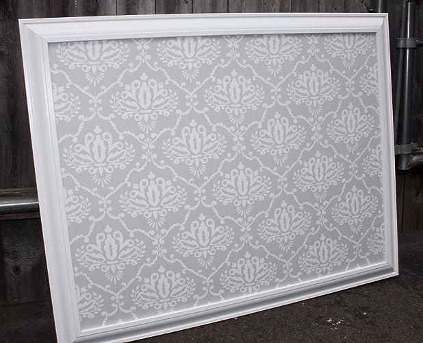 Amazon.com: Fabric Bulletin Board Framed Magnetic or Corkboard ...