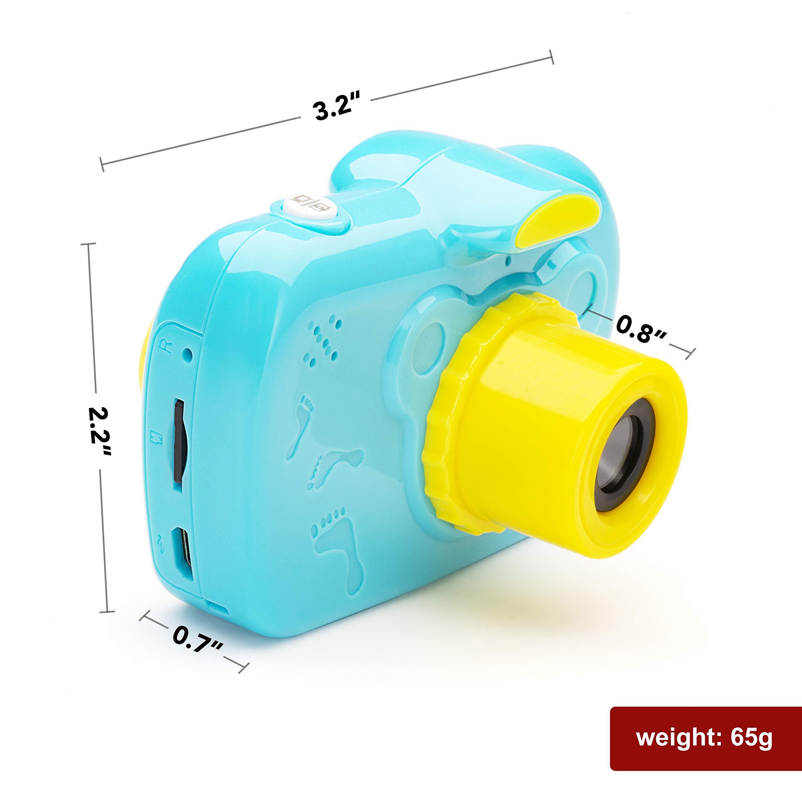 SIKVIO Mini 2.0 Inch Screen Kids Childrens Digital Camera,1080P HD Mini Digital Video Recorder Camcorder Camera with Loop Recording 16GB Cards for Boys Girls by SIKVIO (Image #8)