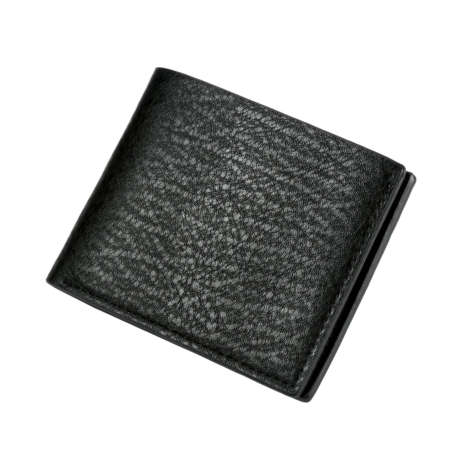 a35bde2eea7 Leather Men s Wallet (Black or Brown) Slim Travel Bifold Hold Credit Cards  Money ID
