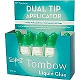 Tombow PT-MTC-10P Flüssigkleber Multi Talent mit zwei Spitzen, 10er-Pack