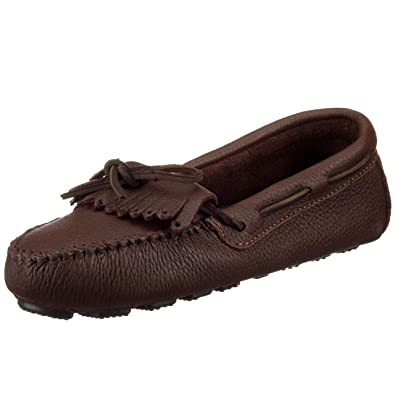 Minnetonka Women's Moosehide Driving Moccasin,Chocolate Moose,5 ...
