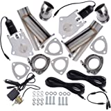 """2.5"""" Dual Electric Exhaust Cutout Downpipe Catback Valve System Kit"""