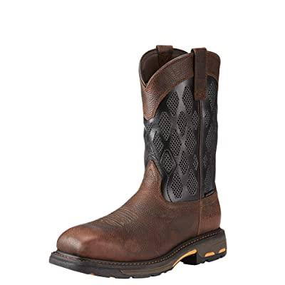 Amazon.com | ARIAT Men's MNS Workhog Venttek Matrix Ct BRN/Charcl Construction Boot | Industrial & Construction Boots