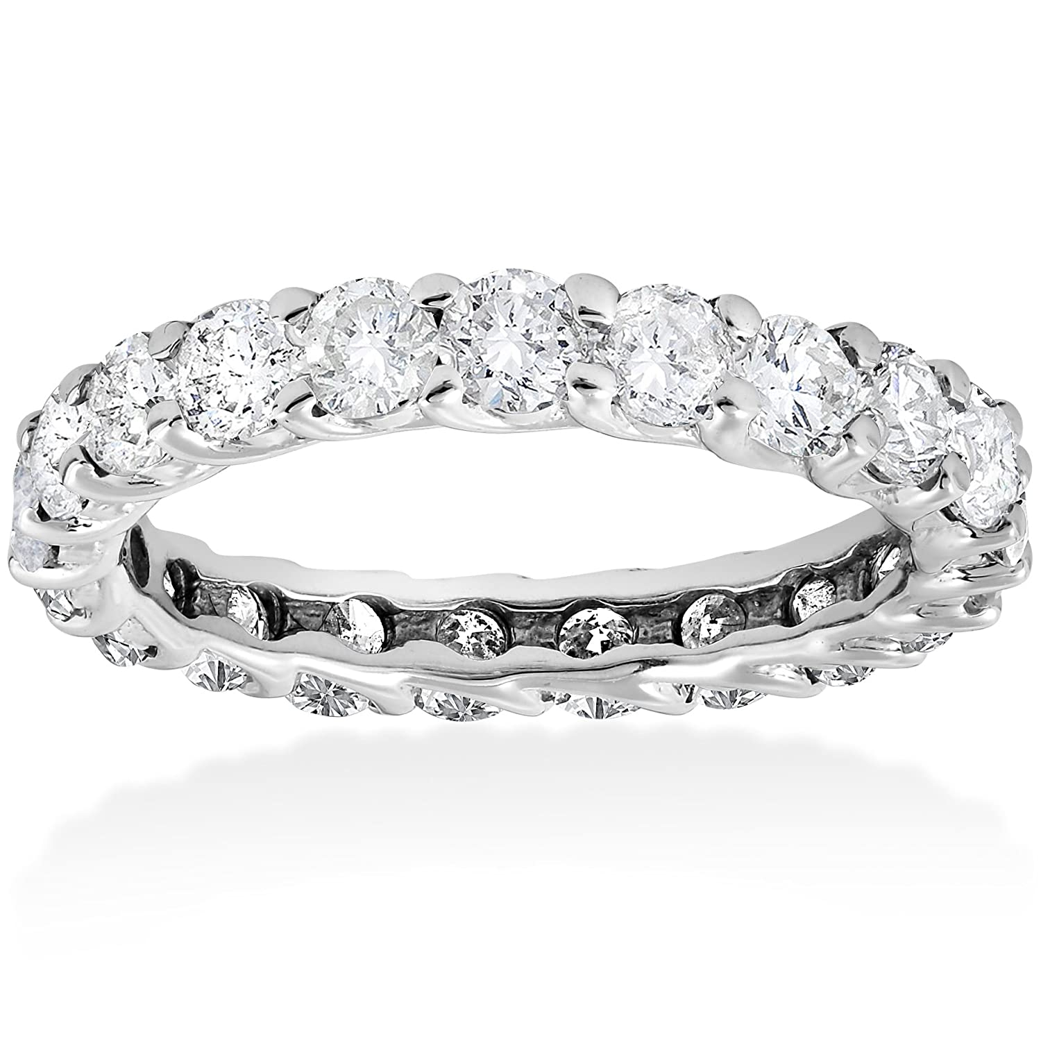 ring shared diamond ct brilliant eternity bands white prong set gold petite tw earth top band