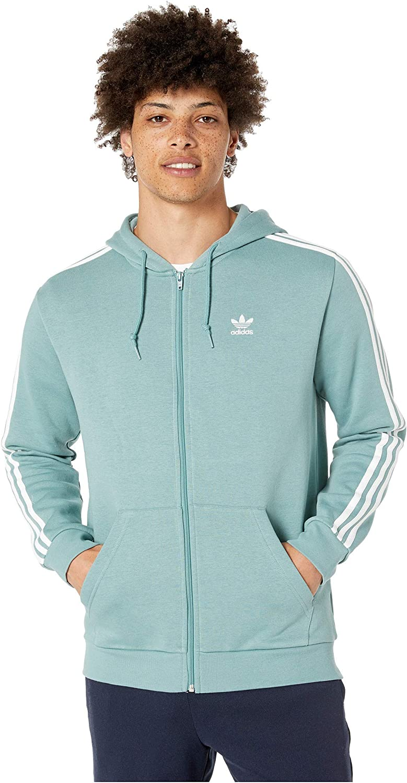 Abrazadera Polvo utilizar  adidas Originals Men's 3-Stripes Zip Hoodie at Amazon Men's Clothing store