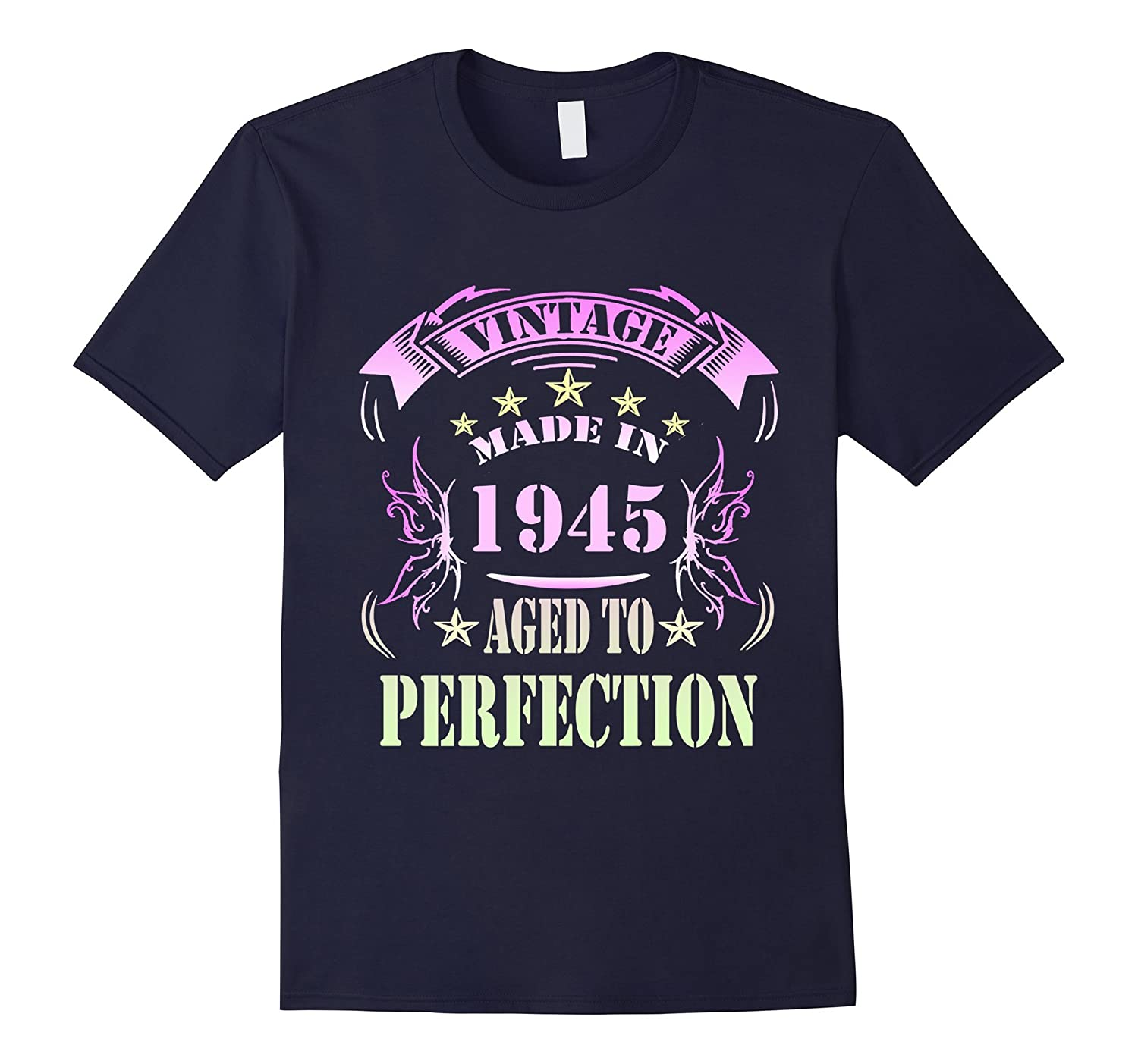 72 Birthday Vintage Made in 1945 Gift ideas Man T shirt-PL