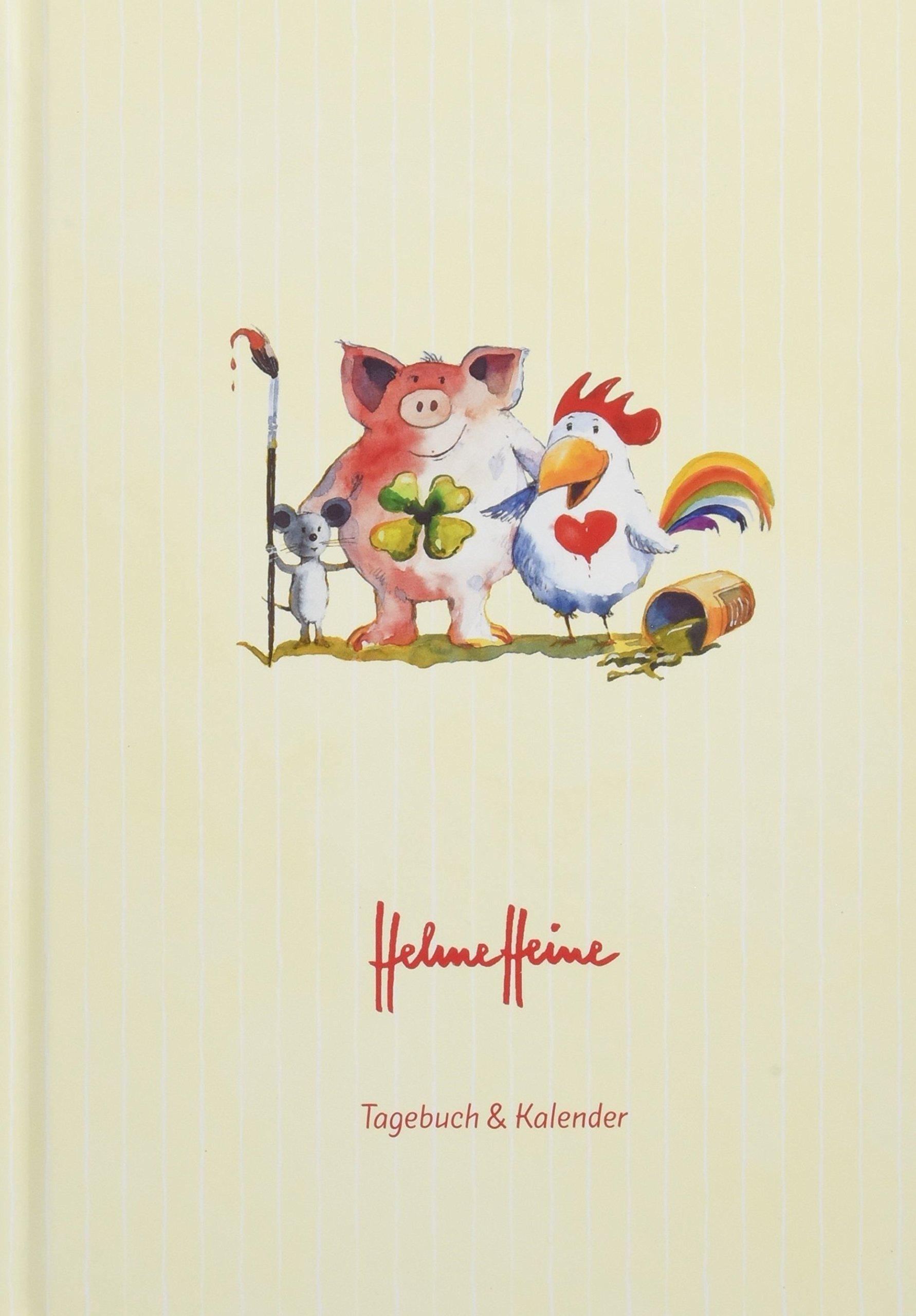 Helme Heine 17-Monats-Kalenderbuch A5 - Kalender 2019: 17 Monate. Von August 2018 bis Dezember 2019