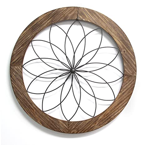 Stratton Home Decor Flower Metal And Wood Art Deco Wall Decor Wall Sculptures Aeromodelling Or Id