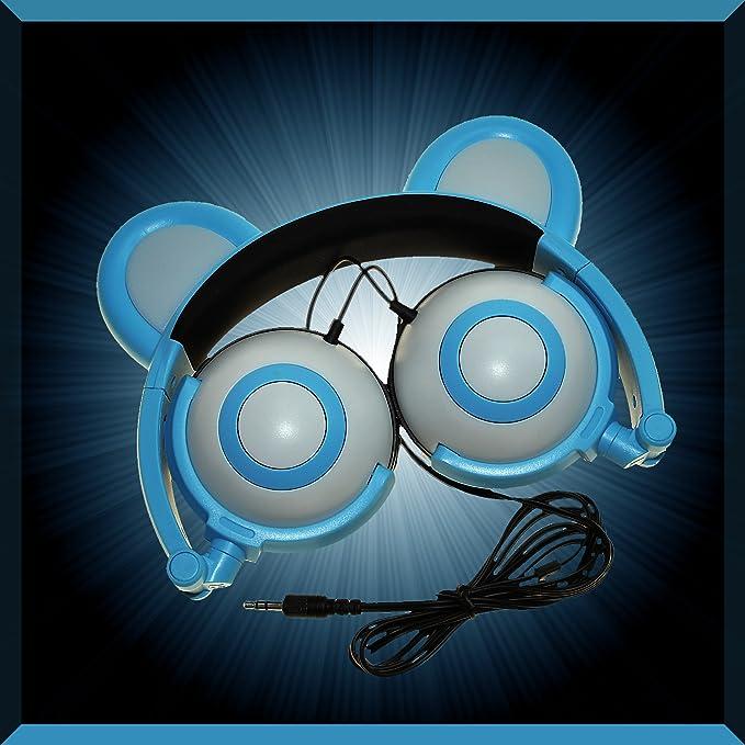 Amazon Com Led Light Up Bear Mouse Animal Ear Headphones Earphones