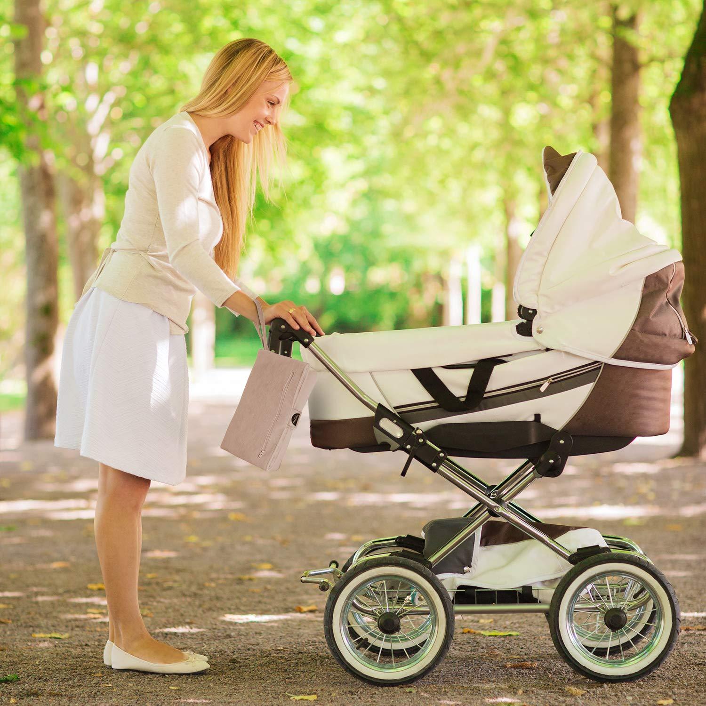 weiche Wickeltasche Maschinenwaschbar Kind und Neugeborenes Creme MoBaby Tragbare Wickelauflage chic gepolsterte Wickelstation f/ür Baby luxuri/öse