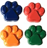 48 Paw Print Crayons by MinifigFans - Birthday Party Favors - 12 Sets of 4 - Made in the USA from Crayola Crayons