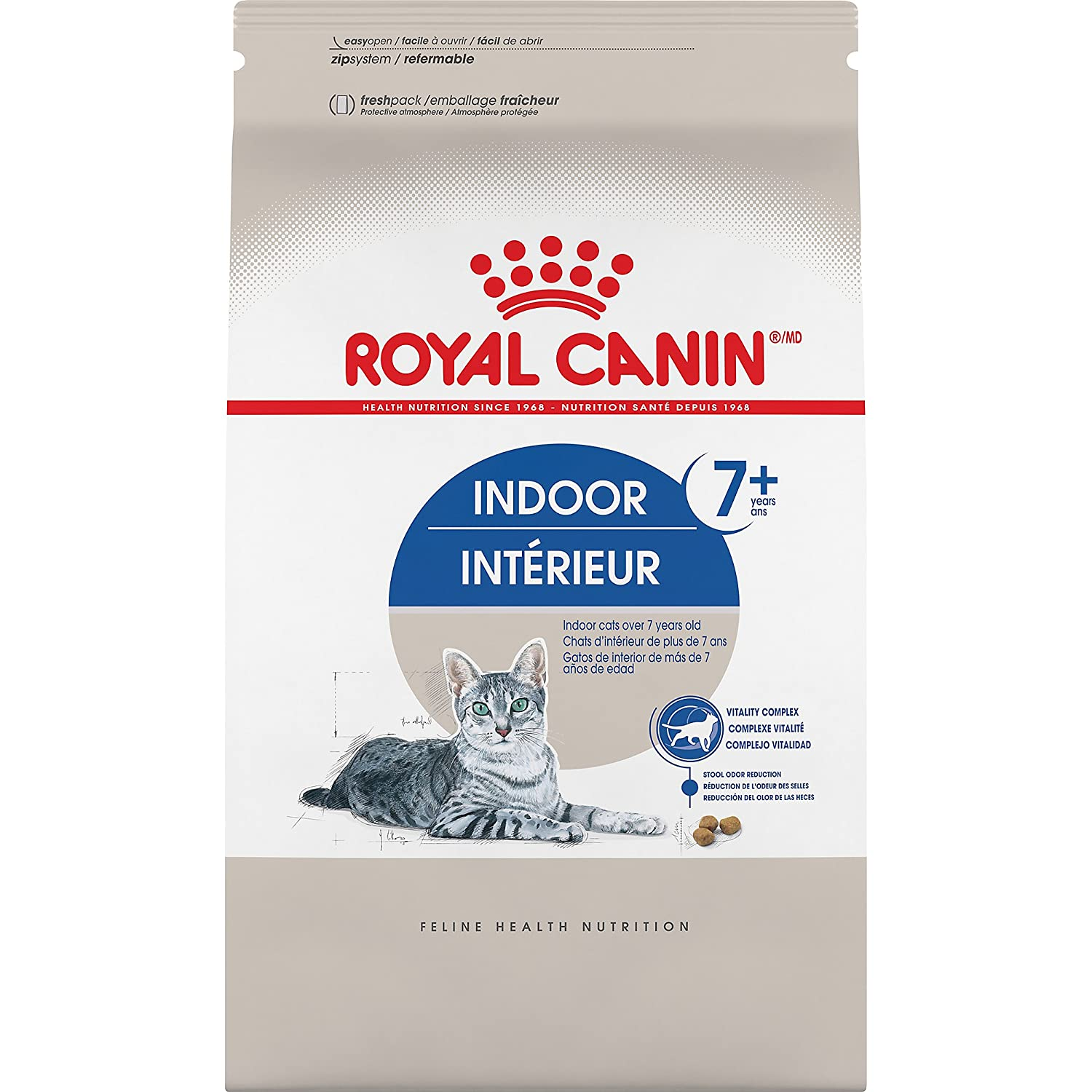 5.5-Pound Royal Canin Feline Health Nutrition Indoor 7+ Dry Adult Cat Food