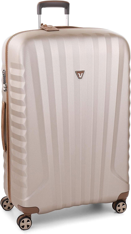 Roncato E-Lite Maleta Grande Champagne, Medida: 80.5 x 53 x 28 cm, Capacidad: 114 l, Pesas: 3.5 kg