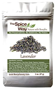 The Spice Way Lavender Flowers - ( 2 oz ) dried flower buds for tea and culinary use