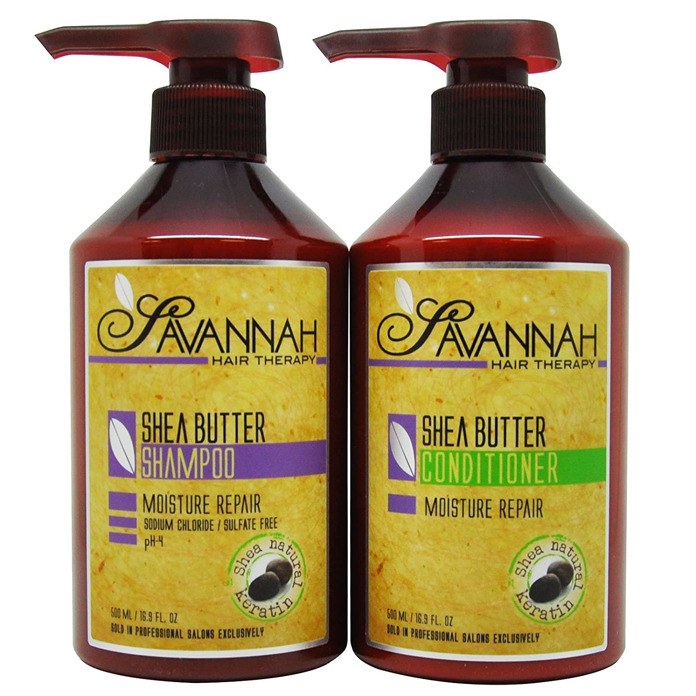 "Savannah Shea Butter Shampoo & Conditioner 16.9oz Duo ""Set"""