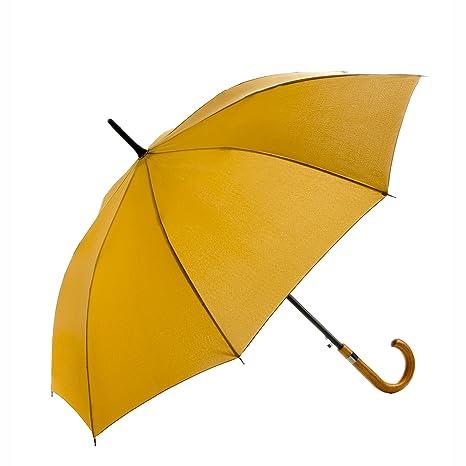 """Mary Sams paraguas caballero """"Friedrich"""" de alta caldidad - color amarillo mostaza – super"""