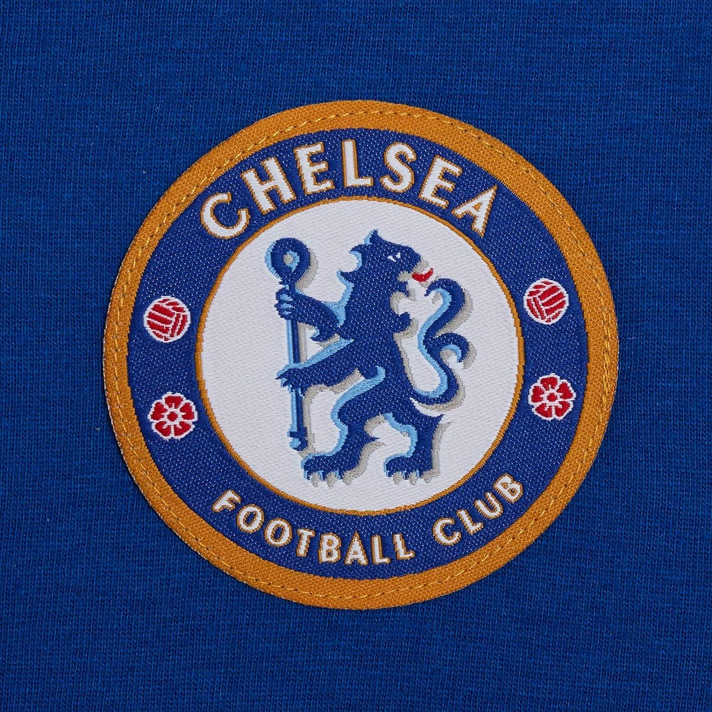 Kids Chelsea FC Short Pyjamas Boys Premiership Football Club Kit Shortie PJs Shorts T-Shirt Set