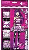 """Four Trading B.V. 1402 - Cuaderno para diseñar """"Style Me Up"""", color rosa y negro [importado de Alemania]"""